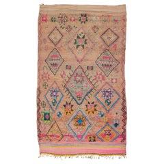 Vintage Moroccan Boujad Rug - Blush, Pink