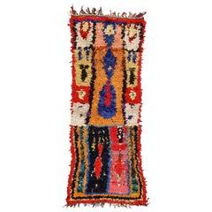 Moroccan Colorful Abstract Boujad Berber Prayer Rug