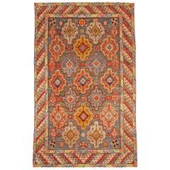 Vintage Moroccan Colorful Handmade Wool Rug