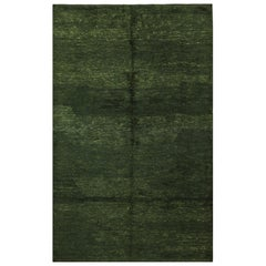 Moroccan Emerald Green Rug. Size: 6 ft 2 in x 9 ft 8 in