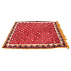 Vintage Moroccan Hand-Woven Tribal Carpet, circa 1960