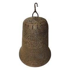 Vintage Moroccan Hanging Light Metal Shade