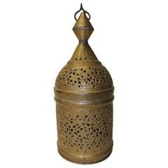 Vintage Moroccan Hanging Light Metal Small Shade