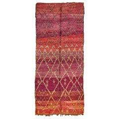 Vintage Moroccan High Atlas Tribe Rug