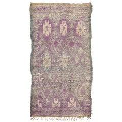Vintage Moroccan MGuild Tribe Berber Rug