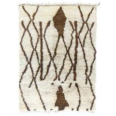 Vintage Moroccan Mrirt Berber Tribe Rug