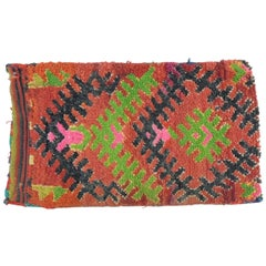 Vintage Moroccan Red and Green Pillow Sack