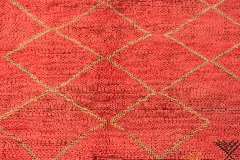 Tribal Vintage Moroccan Red Rug For Sale
