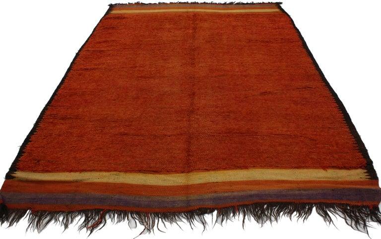 Vintage Moroccan Red Rug Tribal Style Berber Moroccan Rug