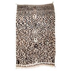 Vintage Moroccan R'hamna Berber Rug