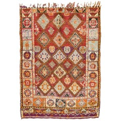 Vintage Moroccan Rug High Atlas Tribe