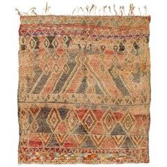 Vintage Moroccan Rug High Atlas Tribe