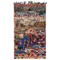 Vintage Moroccan Rug. Size: 4 ft 8 in x 7 ft 1 in (1.42 m x 2.16 m)