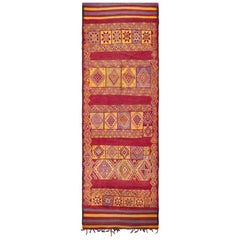 Vintage Moroccan Rug. Size: 5 ft 3 in x 16 ft (1.6 m x 4.88 m)