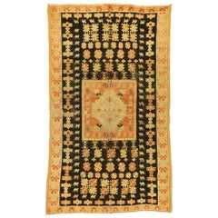 Vintage Moroccan Rug with Mid-Century Modern Tribal Style
