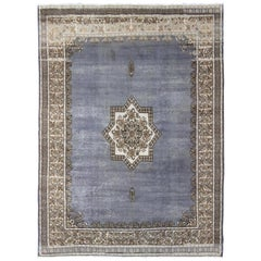 Vintage Moroccan Rug with Star Medallion