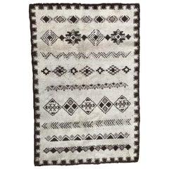 Vintage Moroccan Tribal Berbere Béni Ouarain Rug
