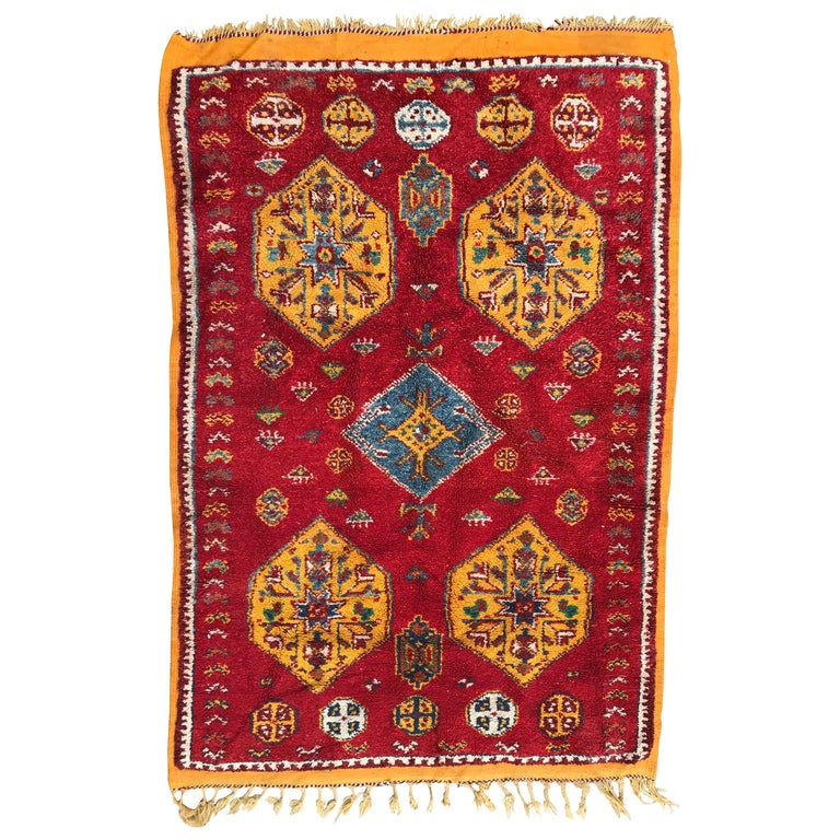 Vintage Moroccan Tribal Berbere Rug For Sale At 1stdibs