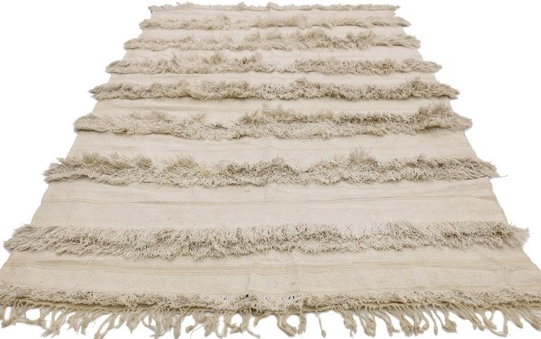 Vintage Moroccan Wedding Blanket, Berber Handira Tamizart For Sale 3