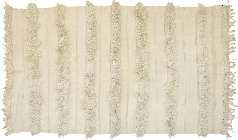 Vintage Moroccan Wedding Blanket, Berber Handira Tamizart For Sale 5