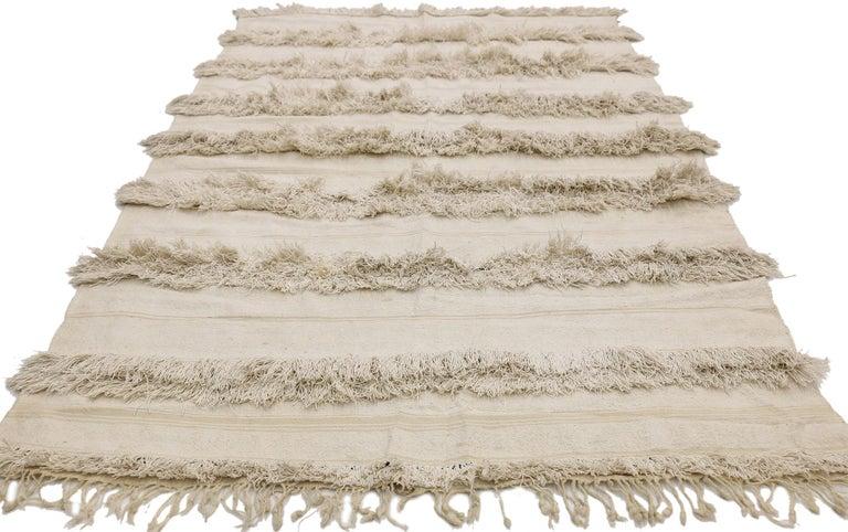 Bohemian Vintage Moroccan Wedding Blanket, Berber Handira Tamizart For Sale