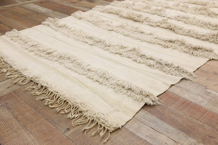 20th Century Vintage Moroccan Wedding Blanket, Berber Handira Tamizart For Sale