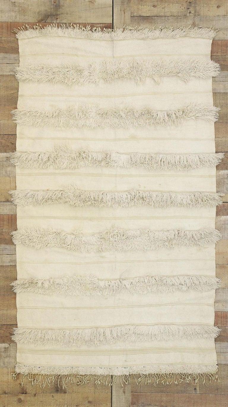 Vintage Moroccan Wedding Blanket, Berber Handira Tamizart For Sale 1