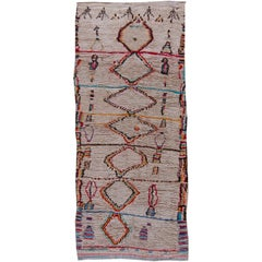 Vintage Moroccan Wool Rug with Multicolored Tribal Geometric Motifs