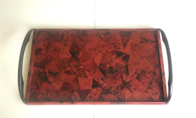Organic Modern Vintage Mosaic Serving Tray in Exotic Pen-Shell by R & Y Augousti For Sale