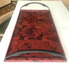 Vintage Mosaic Serving Tray in Exotic Pen-Shell by R & Y Augousti