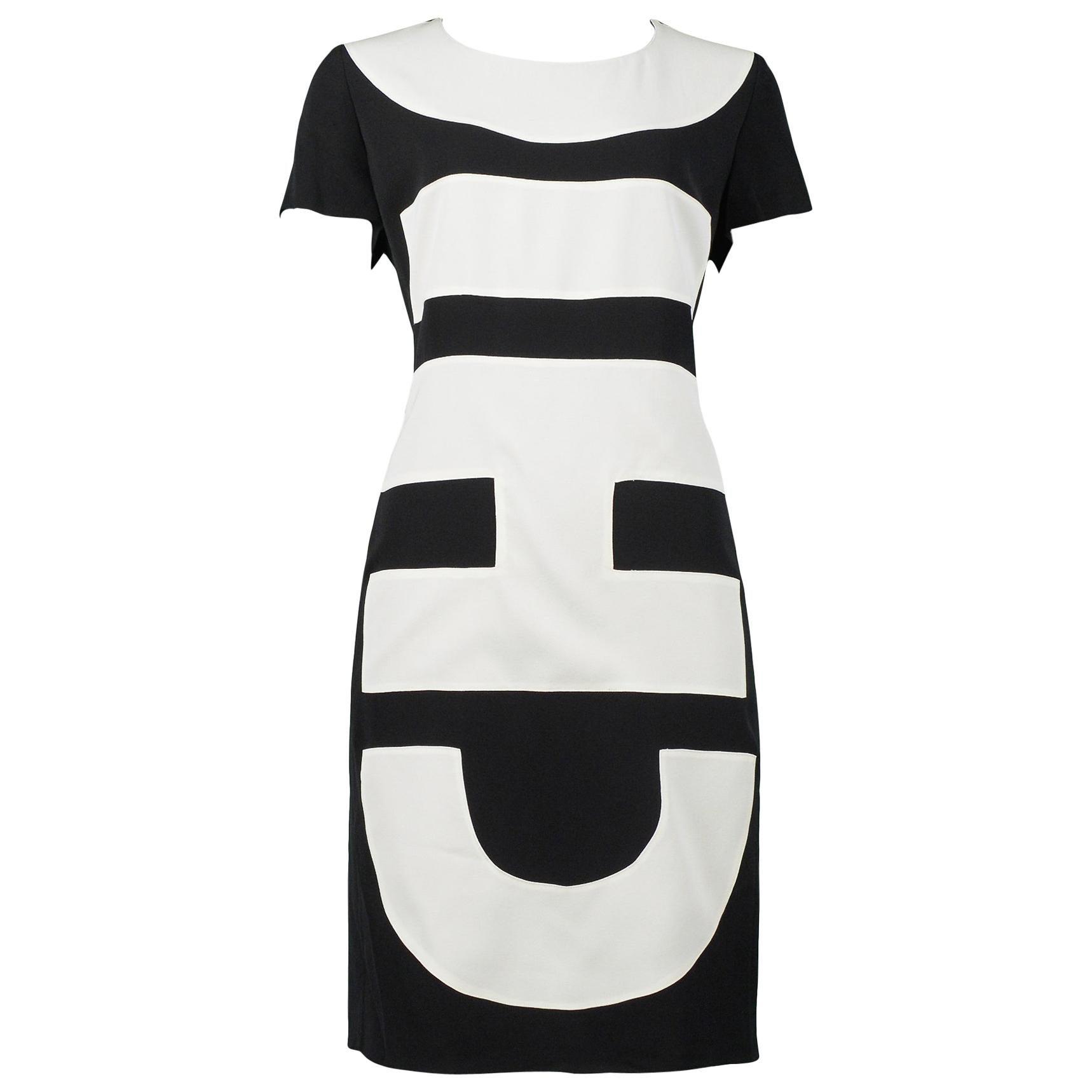 "Vintage Moschino Black & White ""Chic"" Dress"