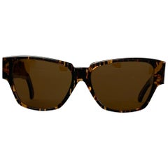 Vintage MOSCHINO by PERSOL Tortoiseshell Acetate Brown Sunglasses