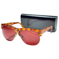 Vintage Moschino By Persol Vintage Tortoise Peace Sunglasses, 1990