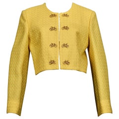Vintage MOSCHINO CHEAP and CHIC Bicycle Buttons Novelty Cropped Jacket