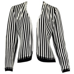 Vintage MOSCHINO CHEAP and CHIC Black and White Shoestring Novelty Blazer Jacket