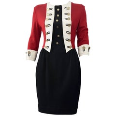 Vintage MOSCHINO CHEAP and CHIC British Military Style Novelty Dress