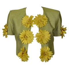 Vintage MOSCHINO CHEAP and CHIC Daisy Flower Novelty Cropped Jacket