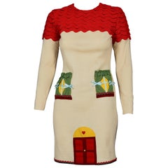 Vintage MOSCHINO CHEAP and CHIC Italian House Novelty Applique Whimsical Dress