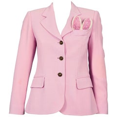 Vintage MOSCHINO CHEAP and CHIC Magician Rabbit Ears Novelty Blazer Jacket