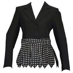 Vintage MOSCHINO CHEAP and CHIC Necktie Fringes Polka Dot Blazer Jacket