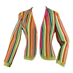 Vintage MOSCHINO CHEAP and CHIC Rainbow Shoe Laces Novelty Blazer Jacket