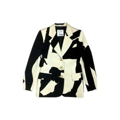 Vintage MOSCHINO Cheap and Chic Shadow Profile Print Blazer Jacket