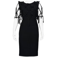 "Vintage MOSCHINO CHEAP and CHIC ""Take A Bow"" Ribbon Overlay Dress"