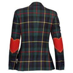 Vintage MOSCHINO CHEAP and CHIC Tartan Heart Elbow Novelty Jacket