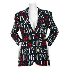 Vintage MOSCHINO Cheap & Chic Coloured Number Blazer Jacket
