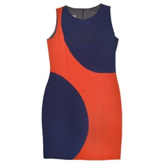 Vintage Moschino Couture Navy & Red Big Dot Dress