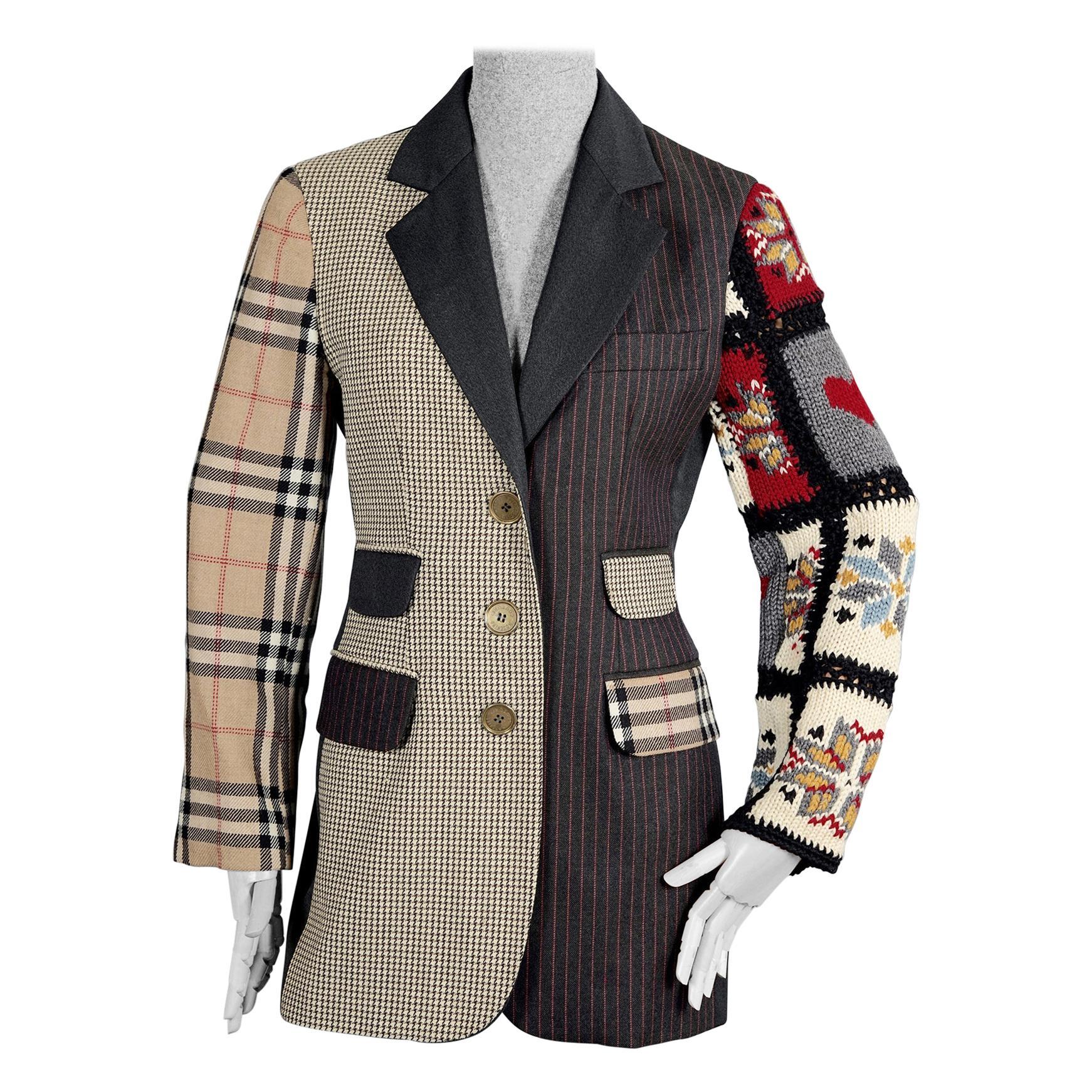 Vintage MOSCHINO COUTURE Patchwork Novelty Blazer Jacket