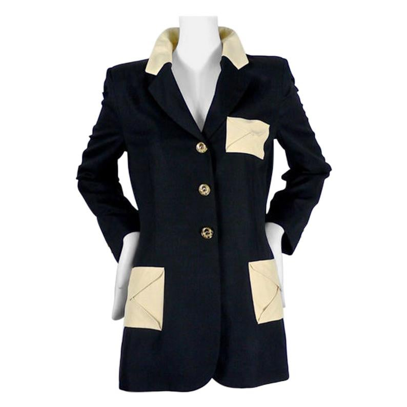 Vintage MOSCHINO Envelope Applique Pocket Jacket