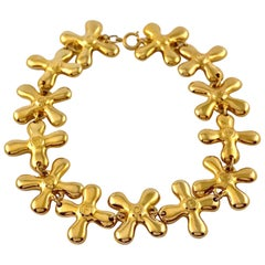 Vintage MOSCHINO Faucet Hot and Cold Novelty Necklace