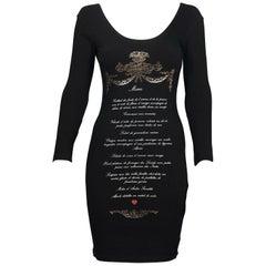 Vintage MOSCHINO French Menu Novelty Dress